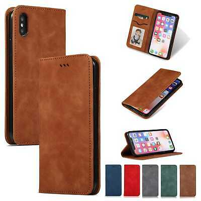 Magnetic Leather Case Flip Stand Wallet Cover For Apple iPhone XS MAX XR X 8 7+