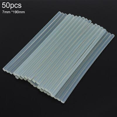 50pcs Glue Sticks Hot Melt Long Length for Glue Gun 7mm x 190mm Thick Sticks New