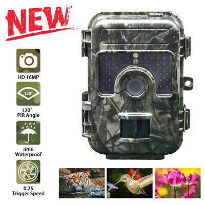 16MP Hunting Trail Camera HD 1080P Wildlife Scouting Cam Night Vision IP66 IR