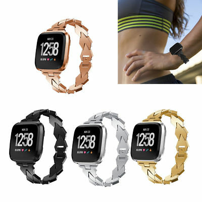 Versa Fashion Bracelet Watch Band Stainless Steel Strap For Fitbit Versa/ Lite