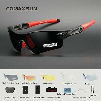 Polarized Cycling Glasses Sports Outdoor Goggles Fishing Sunglasses UV400 5 Lens