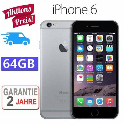 ✅Apple iPhone 6 64 GB Space Grau Smartphone Handy Ohne Simlock - WOW, Aktion!!