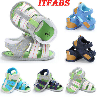 Cute Baby Infant Kids Soft Sole Canvas Crib Shoes Toddler Newborn Sandals Shoes