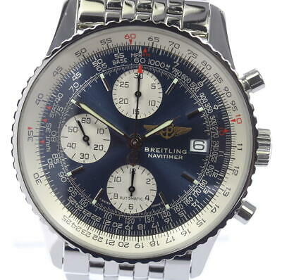 BREITLING Old Navitimer A13322 Blue Dial Automatic Men's Watch_478809