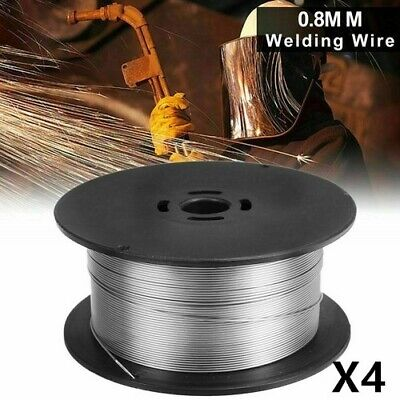 Pack of 4 Rolls Reel Gasless Flux Cored Mig Welding Wire - 0.8 x 1kg rolls Steel