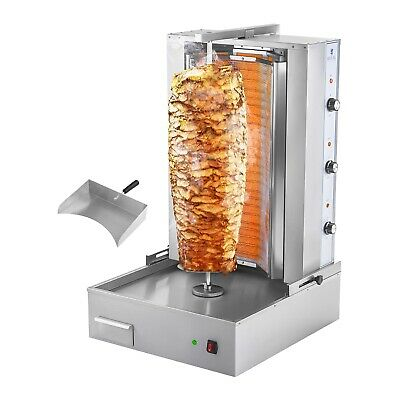 Machine A Kebab Grill Electrique Inox Broche 6 Resistances 6000 W 730 Mm 400 V