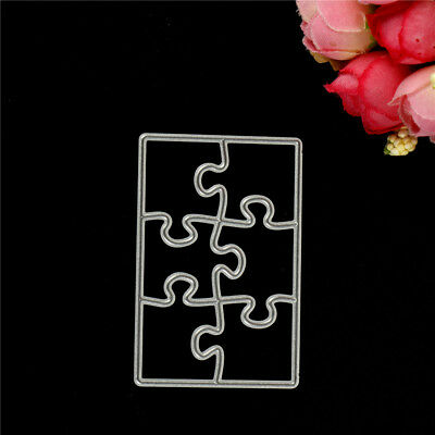 Creative Puzzle Metal Cutting Dies Stencils For Scrapbooking DIY Cards Craft Cw