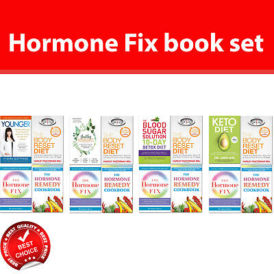 Hormone Fix books set Younger Healthy Hormones Keto Diet 10-Day Detox Diet
