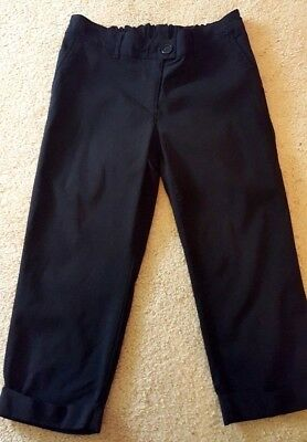 2e8318c4d5b7a Oh Baby Maternity Black Back Elastic Waist Zip Fly Cropped Pants Capris  Small S