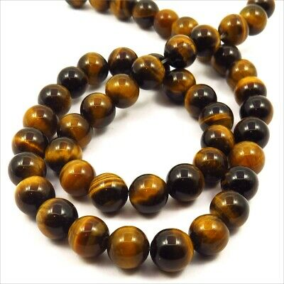 Lot de 30 Perles Pierres Naturelles Oeil de Tigre 8mm