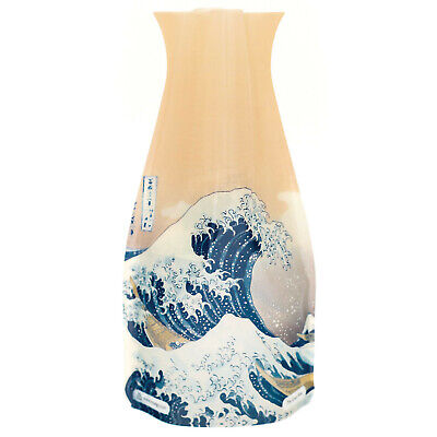 Modgy Plastic Expandable Vase - Great Wave Design  BPA-Free Home, Office, Event