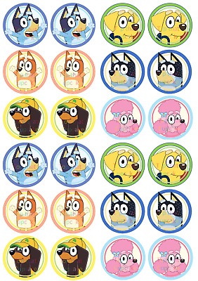 24 Edible Cupcake Toppers Cake Decorations I Love Friends Precut Circles