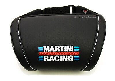 Martini Racing Car Seat Headrest Pillow Neck Rest Cushion Embroidery Colored
