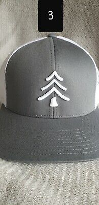 fc34ffe2883aa8 Lindo Trucker Hat - Great Outdoors Collection By (Grey/white) pine tree.
