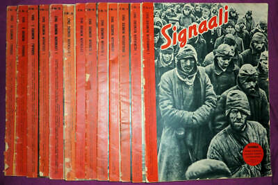 Collection of 13 Finnish Ed. (Fi) Signal / Signaali magazines, 1942 to 1944