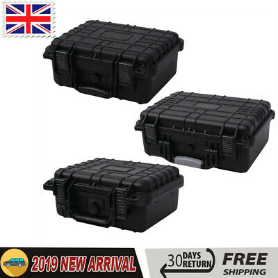 Protective Equipment Hard Carry Case Plastic Box with 3 Removable Foam