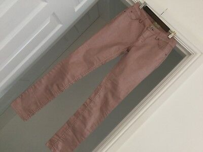 Girls Dusky Pink Stretch Slim Coated Funky Jeans By Cars Age 14 £39.99 BNWOT