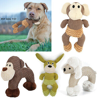 Pet Dog Cat Toy Funny Puppy Chew Squeaker Squeaky Plush Animals Play Sound Toys