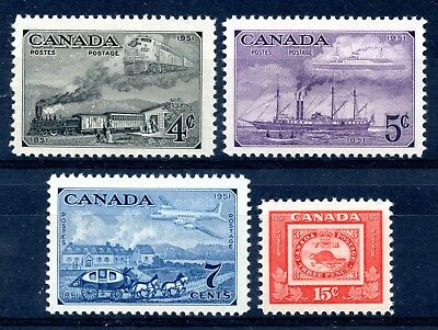 Weeda Canada 311-314 VF MNH set of 1951 Centenary of Stamps issue CV $7.05