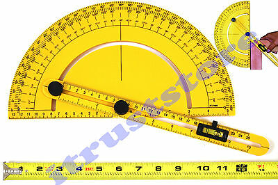 Large Angle Finder Protractor Slope Roof Pitch Rafter Gauge Degree Level Square