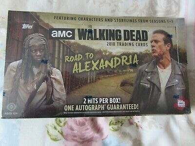 TOPPS, The Walking Dead, Road To Alexandria, Sealed Box, 24 packs, 2 Hit Cards