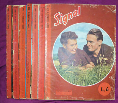 Collection of 7 Italian Ed (I) Signal magazines, 1944 and 1945
