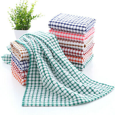 Pack Of 3-12 Professional 100% Cotton Thick Tea Towels Terry Kitchen Bars FL USA