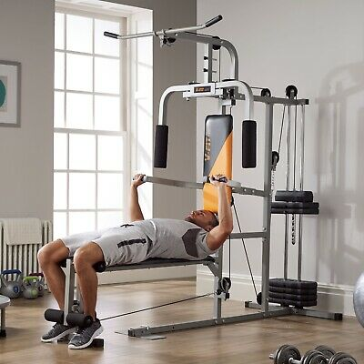 V-Fit Herculean LGF-2 Lay Flat Home Gym. Brand New
