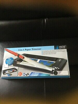 Brand New United Office 2 in 1 Paper Trimmer