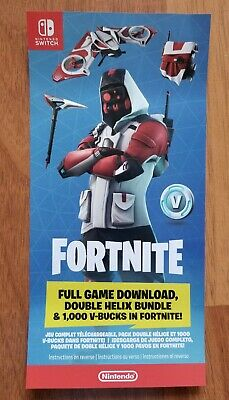 NINTENDO SWITCH FORTNITE *Double Helix Set DLC CODE Card* NO CONSOLE
