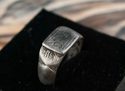 Medieval Silver Ring c.13th Century AD Unique Artifact Crusader Period, Ancient