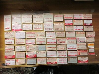 65=Old All Poison  Pharmacy Apothecary Medicine  Bottle Labels= Nice