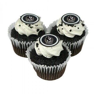 Collingwood Magpies Edible Icing Cupcake Toppers AFL Official Birthday Party