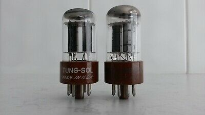 Tungsol 6SN7WGT Mil Spec Matched Pair