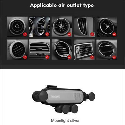 360° Gravity Auto Car Air Vent Mount Cradle Holder Stand For iPhone Cell Phone