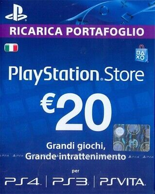 PlayStation Network Card 20 EURO