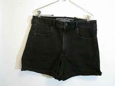 Clothing, Shoes & Accessories American Eagle Womens Hi-rise Rolled Super Stretch Sz 00 Denim Shortie Shorts A1