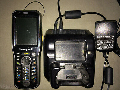 Honeywell Dolphin 6100 Mobile Handheld Computer, cradle, and stylus