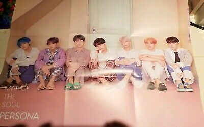 BTS MAP OF THE SOUL: PERSONA Official Folded Poster/ver.3 + Freebies!