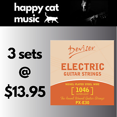 3 Sets Of Electric Guitar Strings (10-46) *** FREE POSTAGE ***