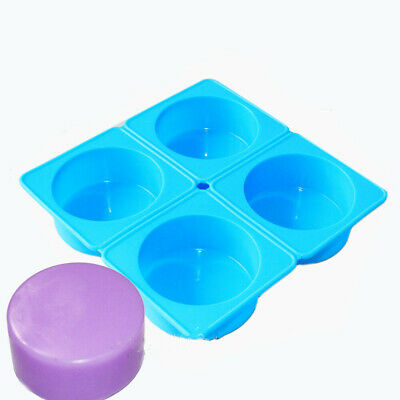 Round Cylinder Circle Silicone Soap Mold Lotion Bar Dia. 2.7inch 3.5oz / cell