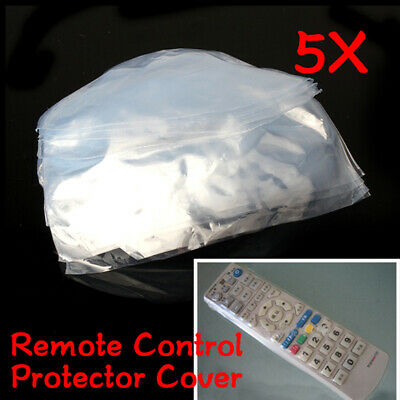5pcs Heat Shrink TV Remote Control Case Bag Cover Anti-Dust Protector Waterproof