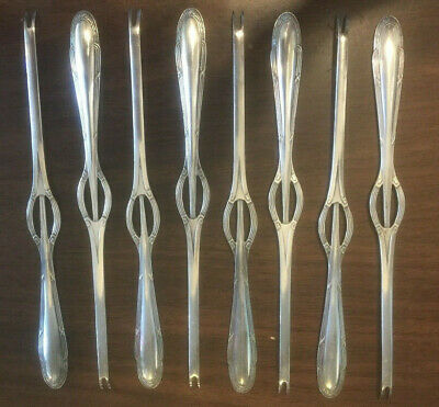 "Vintage WMF Silverplate 8.5"" Lobster Forks - Set of Six"