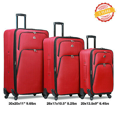 Luggage Set HI PACK 3 Piece Travel Spinner Bag ABS Trolley Carry On Suitcase US