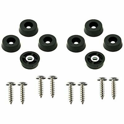 8 Small Round Rubber Feet Bumpers W/Screws - .250 H X .671 D Made In USA