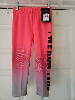 c7991617a9360 NWT Nike Toddler Girls Pink/Gray Ombre Dri Fit Leggings Pants Size 3T DEFECT