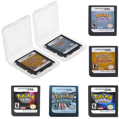 Pokemon Platinum Diamond HeartGold SoulSilver Game Cards 3DS NDSI XL USA Version