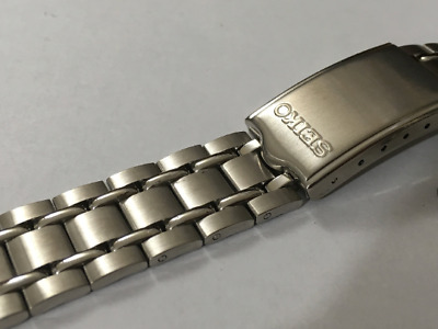SEIKO 19mm SOILD Stainless Steel Gents Watch Strap,Curved Lug Ends,New,(SS-6)
