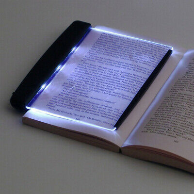 Creative LED Book Light Reading Night Flat Plate Portable Car Travel Panel Lamps