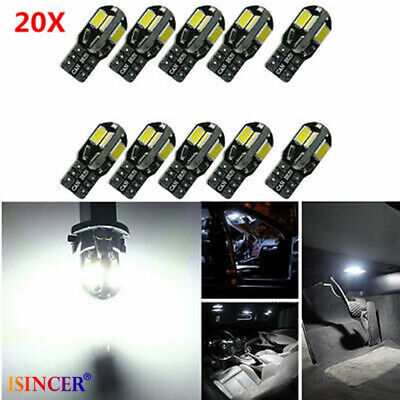 20x Canbus T10 194 168 W5W 5730 8 LED SMD White Car Side Wedge Light Lamp HOT